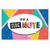 Colorfetti Collection, On A Side Note Postcards, Multi-Colored, 3.5 x 5.5 Inches, Pack of 36