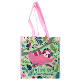Stephen Joseph, Sloth Large Recycled Gift Bag, 13 1/2 x 13 x 7 1/2 inches