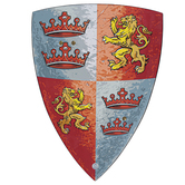 Liontouch, Prince Lionheart Shield, Silver & Red, 16 1/2 x 12 inches