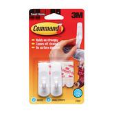 Command, Small Hooks, White, 2 Pack