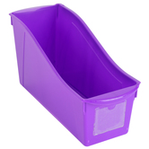 Storex, Large Book Bin, Purple, 14.30 x 5.30 x 7 Inches, 1 Piece