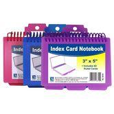 C-Line, Spiral Bound Index Card Notebook, Assorted, 3 x 5 Inches