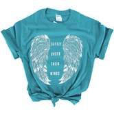 NOTW, Under Their Wings, Women's Short Sleeve T-Shirt, Turquoise, S-2XL