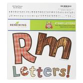 Goin' West Collection, Crooked Classic Bulletin Board Letters, Upper and Lowercase, 4 Inches, Assorted Colors, 220 Pieces