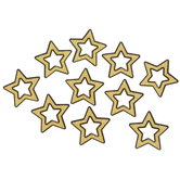 Carson-Dellosa, Sparkle and Shine Gold Glitter Stars Cut-Outs, 3 Inches, 36 Pieces