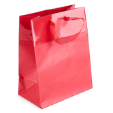 Brother Sister Design Studio, Medium Sized Gift Bags, Red, 9 3/4 x 7 3/4 x 4 1/2 inches, 4 Bags