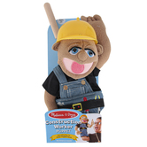 Melissa & Doug, Construction Worker Puppet, 15 x 5 x 6 1/2 inches, Ages 3 and Older