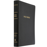 KJV Reference Bible, Giant Print, Bonded Leather, Thumb Indexed, Multiple Colors Available