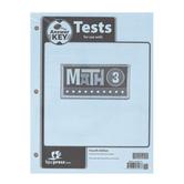 BJU Press, Math 3 Tests Answer Key, 4th Edition, Grade 3