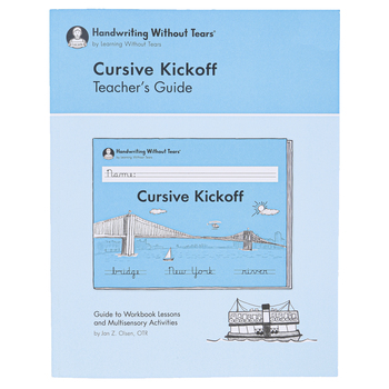 Handwriting Without Tears Cursive Kickoff Teacher's Guide, 217 Pages, Paperback, Grade 2