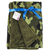 Stephen Joseph, Camo All Over Print Blanket, Polyester, 50 x 36 inches