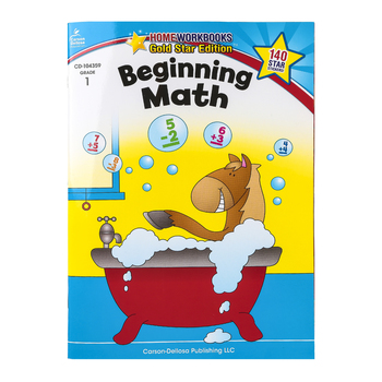 Home Workbooks Gold Star Edition Activity Book: Beginning Math, 64 Pages, Grade 1
