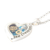 Modern Grace, 2 Corinthians 5:17 Heart Shaped New Creation Story Locket Necklace, Silver, 20 Inches