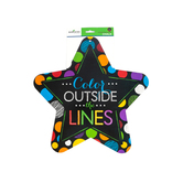 Chalk Talk Collection, Color Outside the Lines Two-Sided Decoration, 17 Inches, Multi-colored Dots