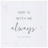 Matthew 28:20 Wall Decor, MDF, 11 7/8 x 11 7/8 x 1 1/2 Inches