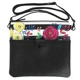 Brownlow Gifts, Bella Caroline, Black Crossbody Bag, Vegan Leather, 9 x 8 1/2 inches