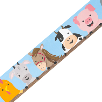 Creative Teaching Press, Farm Friends Farm Faces Border, Straight Trimmer, Multi-Colored, 35 Feet