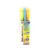 G.T. Luscombe, Accu-Gel Bible-Hi-Glider Highlighters, Yellow, Blue & Orange, 1 Each of 3 Colors