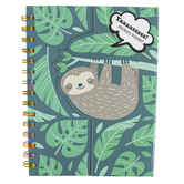 Have A Slothtastic Day Sloth Notebook & Stickers, 6 x 8 inches, 150 Pages