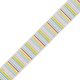 Creative Teaching Press, Poppin' Stripes Border Trim, 35 Feet, Colorful Lines and Doodles