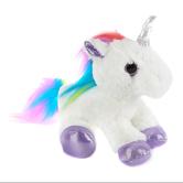 Aurora, Mini Flopsies, Rainbow Unicorn Stuffed Animal, 8 inches
