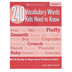 Scholastic, 240 Vocabulary Words Kids Need To Know Workbook, Reproducible Paperback, 80 Pages, Grade 1
