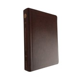 ESV Single Column Journaling Bible, Large Print, Bonded Leather, Mocha