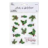 the Paper Studio, Christmas Holly Glitter Stickers, 26 Stickers