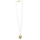 Mercy Adorned, Proverbs 16:20 Heart Lock Pendant Necklace, Gold, 30 inches
