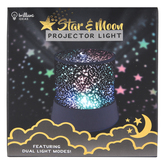 Brilliant Ideas, Star and Moon Projector Light, Black, 4 1/4 x 4 3/4 inches