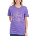 NOTW, Mom Is Another Name For Prayer Warrior, Women's Short Sleeve T-Shirt, Purple Heather, X-Large