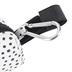 Polka Dot Dog Waste Bag Pouch, Black & White, 3 1/2 x 1 3/4 x 2 1/2 inches