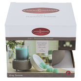 Candle Warmers, 2-In-1 Fragrance Warmer, Gray & White, 4 3/4 x 4 inches