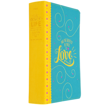 NLT Girls Life Application Study Bible, Duo-Tone, Teal and Yellow