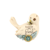 Pavilion Gift, Forever My Friend Bird Figurine, Resin, Cream, 4 1/2 inches