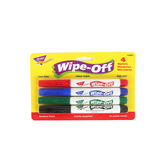 TREND enterprises, Inc., Wipe-Off Markers, Medium Point, Assorted Colors, Pack of 4