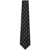 Tie - Navy With Silver Crosses Polyester