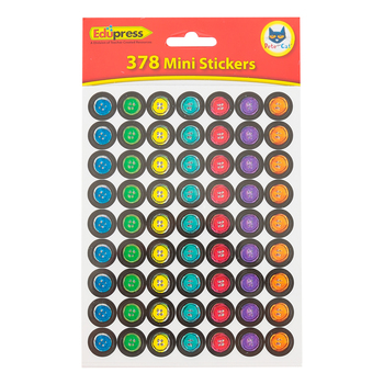 Edupress, Pete the Cat Groovy Buttons Mini Incentive Stickers, Multi-Colored, 0.50 Inches, 378 Stickers