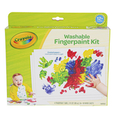 Crayola, Washable Fingerpaint Kit, Assorted Colors, Ages 1 and up