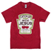 Kerusso, Catch Up With Jesus, Men's T-Shirt, Antique Red