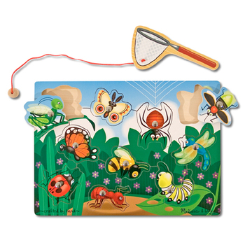 Melissa & Doug, Bug Catching Magnetic Puzzle Game, Ages 3 to 5 Years Old, 11 Pieces