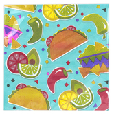 Brother Sister Design Studio, Fiesta Napkins, Large, 6 1/2 x 6 1/2 Inches, 25 Count