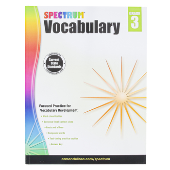 Carson-Dellosa, Spectrum Vocabulary Workbook, Paperback, 160 Pages, Grade 3