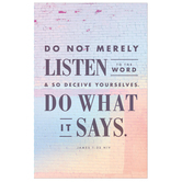 Salt & Light, Do Not Merely Listen Church Bulletins, 8 1/2 x 11 inches Flat, 100 Count
