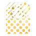 Glimmer of Gold Collection, Wide Double-Sided Border Trim, 38 Feet, Gold and White Arrows and Dots