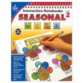 Carson-Dellosa, Interactive Notebooks: Seasonal Resource Book, Paperback, Reproducible, 96 Pages, Grade 2