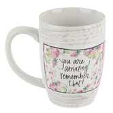 Brownlow Gifts, You Are Amazing Floral Coffee Mug, Ceramic, 16 ounces