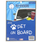 Enjoy It LLC, Pet On Board and Paw Pet Stickers, Vinyl, White