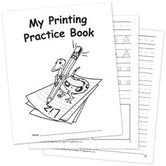 Teacher Created Resources, My Printing Practice Book, 7 x 8.5 Inches, White, 32 Pages