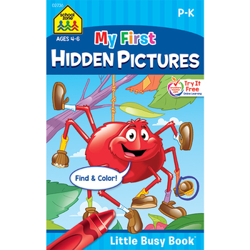 Little Busy Book, My First Hidden Pictures Workbook, 48 Pages, 5.37 x 8.50 Inches, Grades K-1